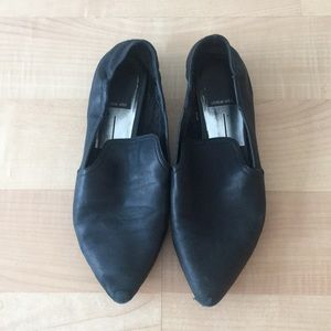 Dolce vita black leather flats -7.5